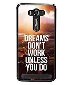 PrintVisa Designer Back Case Cover for Asus Zenfone 2 Laser ZE500KL (5 inches) (Caption Font Text Season Light Sunset Nature Travel)