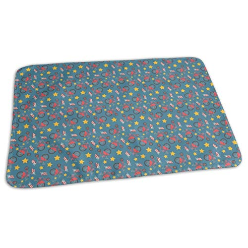 tion Dog Breed Baby Portable Reusable Changing Pad Mat 31.5x21.5 inches ()