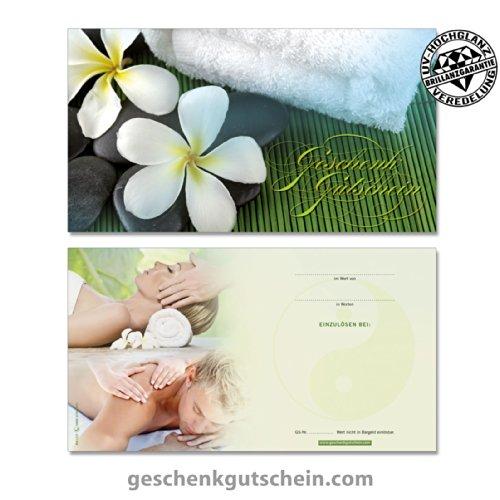 """50 Stk. Gutscheinkarten """"Standard"""" für Kosmetik, Massage, Wellness, Spa MA1227, LIEFERZEIT 2 bis 4 Werktage !"""
