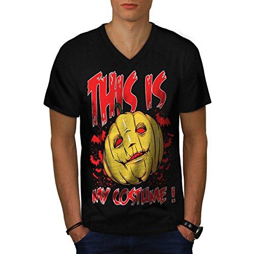 Halloween Kostüm Horror Herren XL V-Ausschnitt T-shirt   (Kostüme Zahn Halloween Verwandte)