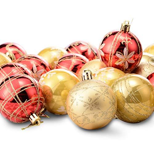Mogomiten 24pcs decorazioni natale albero addobbi palline per appendere centrotavola per alberi di natale, nozze, partito, natale festa, 6cm