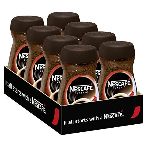 Nescafé Classic 100% löslicher Bohnenkaffee, 8er Set, 8 x 100g Glas (für ca. 320 Becher)