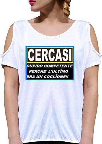 JODE T Shirt Girl GGG27 Z1348 CERCASI Cupido COMPETENTE Ultimo COGLIONE Funny Fashion