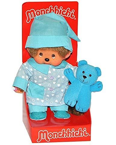 Junge mit Pyjama - 20 cm Monchhichi Monchichi Boy Mütze