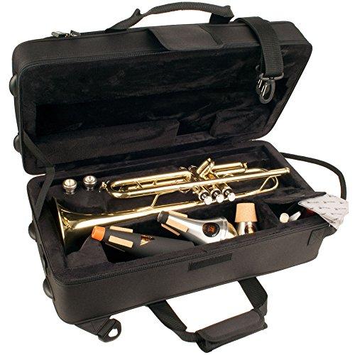 Protec, Modell MX301 Trompete MAX rechteckiger Koffer mit Dämpferaufbewahrung innen