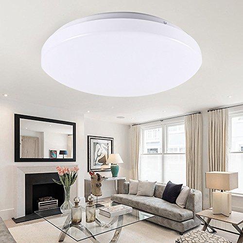LED Deckenleuchte 15W 4000K Neutralweiß Deckenlampe Dimmbar Deckenbeleuchtung Rund Deckenstrahler Wohnzimmerlampe Badleuchte Wohnzimmer Beleuchtung rund Wand-Deckenleuchte von GreenClick