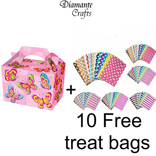 10-party-boxes-cardboard-lunch-food-loot-treat-box-20-designs-butterfly-10-boxes-plus-10-free-paper-