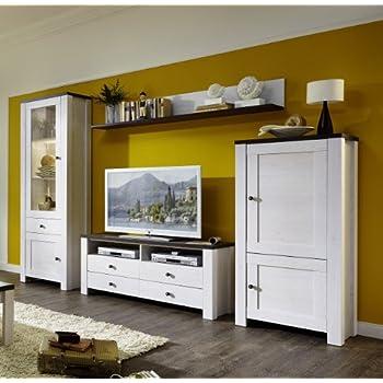Dieser Artikel Stella Trading ANLL711080 Wohnzimmerschrank Wohnwand Anbauwand TV Wohnlsung Mit LED Beleuchtung Holz Weiss 400 X 3000 2030 Cm