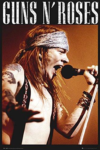 Guns N Roses - Axel - Musik Heavy Metal Hard Rock VIP Poster Plakat Druck - Grösse 61x91,5 cm + 1 Ü-Poster der Grösse 61x91,5cm