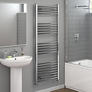 iBathUK 1600 x 600 Curved Heated Towel Rail Chrome Bathroom Radiator NC1600600