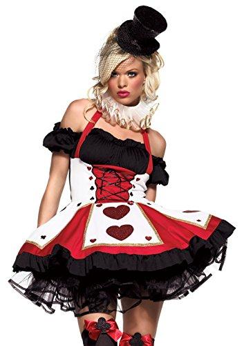 Leg Avenue 83409 - 2Tl. Hübsche Playing Karten Kostüm Set Mit Kleid Und Neck Piece Damen Fasching Karneval, XS (EUR 32)