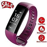 TEZER Unisex Uhr digital Digitales Quarzwerk mit Silikon Armband Fitness tracker mit Schrittzähler Kalorienzähler D5.MAXBlack