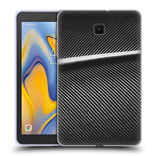 Head Case Designs Offizielle PLdesign Silbernes Tauben Federn Gewebe Abstrakte Photographie Soft Gel Huelle kompatibel mit Galaxy Tab A 8.0 (2018) -