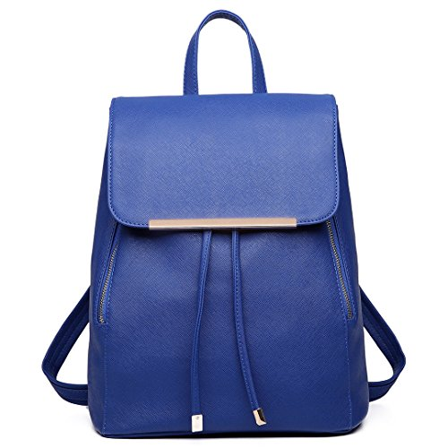 Miss LuLu Rucksack Daypack Damen Tasche Umhängetasche Schulrucksäcke (Dunkelblau)