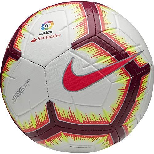 Nike Ll Nk Strk Fa18, Pallone Unisex Adulto, Bianco/Rosa (Flash)/Rosso (Team), S