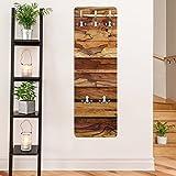 Garderobe - Top Holzoptik Garderoben, Größe HxB: 139cm x 46cm, Motiv: Woody Flamed
