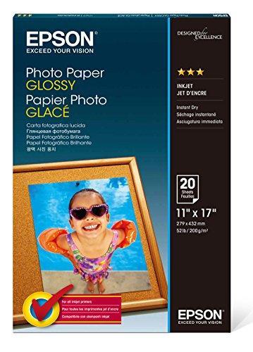 Epson s041156Glossy Photo Papier, 60lbs, glänzend, 11x 17(20Stück Blatt) - Papier 60 Lb