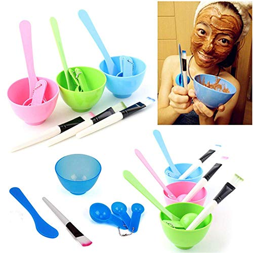 Starmood 4 In1 DIY Schüssel Bürste Löffel Beauty Werkzeugsatz Hausgemachte Gesichts Maske Outfit Set