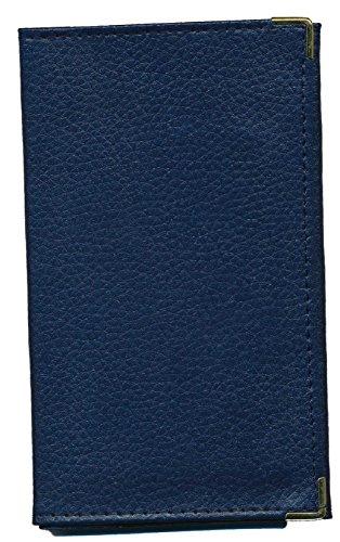 Pochette Etui Protection cuir Porte Carte Grise - papiers voiture - permis de conduire (Bleu)