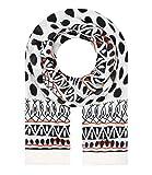 Majea Schal Damen Tuch Kopftuch Halstuch Schals und Tücher mit Muster Stola (schwarz 32)