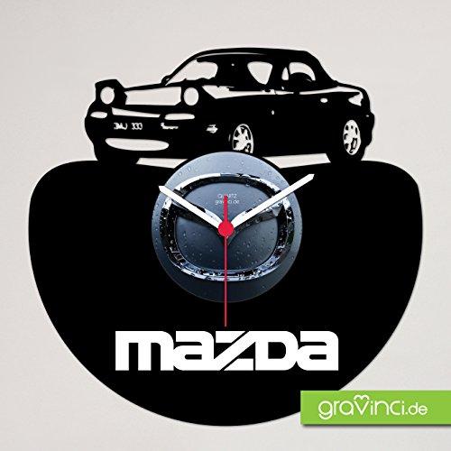 Schallplatten-Wanduhr Mazda MX5