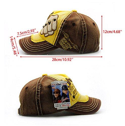 Dairyshop Modo Unisexe Versare Hommes Femmes Réglable Casquette Baseball Hip Hop Cappello (rouge) profondo