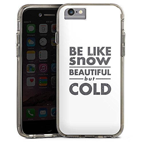 Apple iPhone X Bumper Hülle Bumper Case Glitzer Hülle Sayings Sprüche Phrases Bumper Case transparent grau