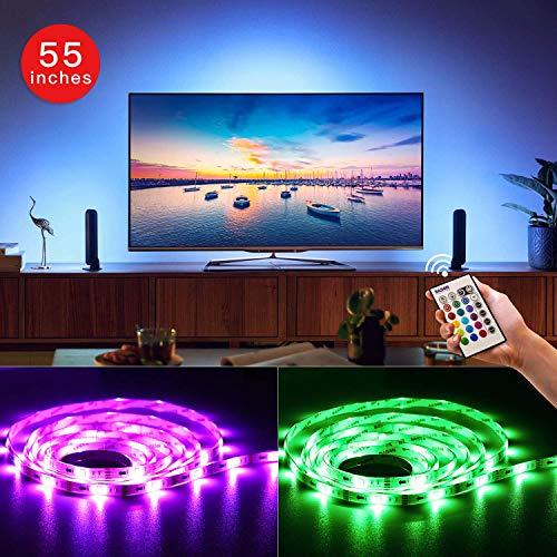 """BASON USB LED Stromversorgung über TV Hintergrundbeleuchtung für 55"""" 58'' TV/Flachbildschirm/Wandhalterung Kino Dekoration LED-Streifen-Beleuchtung"""