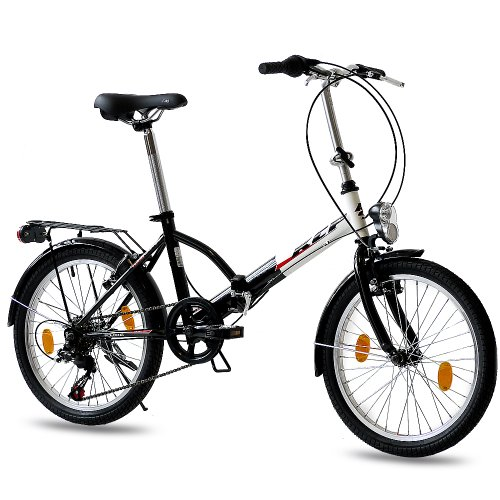 Leader 20 inch FOLDING BIKE CITY BIKE FOLDO 6 speed SHIMANO Unisex...