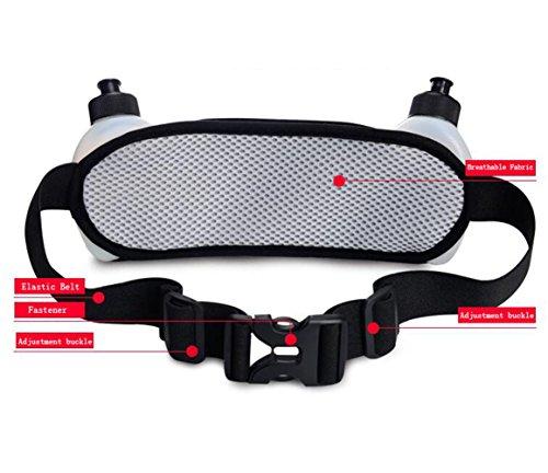 OOFWY Leichte Taille Tasche Männer Frauen Pack Handy Doppel Wasser Flasche Gürteltasche Outdoor Reise Running Sport Taille Pack F