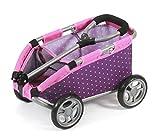 """Bayer Chic 2000 660 40 - Ziehwagen """"Skipper"""", Handwagen für Puppen oder Teddybären, Dots Purple Pink"""