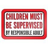 bienternary I bambini devono essere controllato da adulto responsabile 9x 6aluminum Sign metal Signs cartelli stradali vintage segni di latta placche decorative Plaque