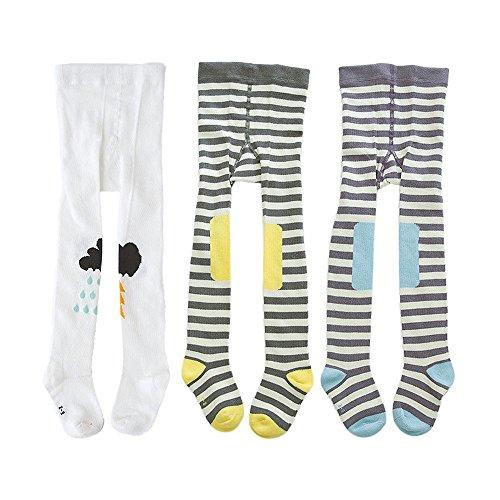 Lydreewam 3er-Pack Cute Kinder Jungen Mädchen 0-3 Jahren Strumpfhosen Legging Hosen Warme Strümpfe (Kleine Lederhosen Kostüme Für Babys)