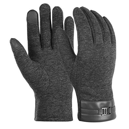 Vbiger Winter Warm Gloves Touch Screen Gloves Casual Gloves Texting Mittens for Men and Women (M