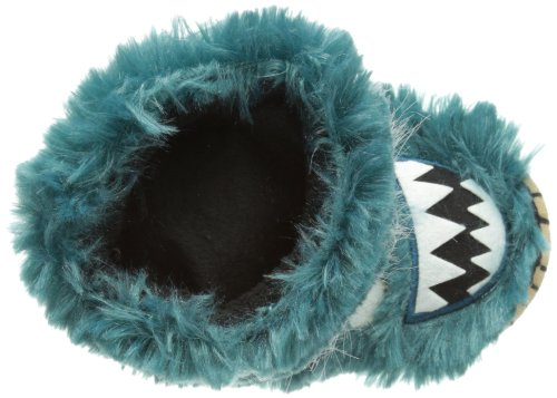 hatley Kids Slouch Slipper Unisex-Kinder Hausschuhe Blau (Ice Monsters)