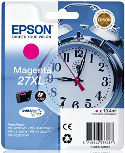 epson wf3640 Epson Original EPST27134012 Tintenpatrone, Wecker 27 XL, Singlepack magenta