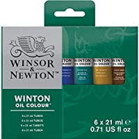 Winsor & Newton Winton Oil Colour Paint Intro Set, Six 21ml Tubes