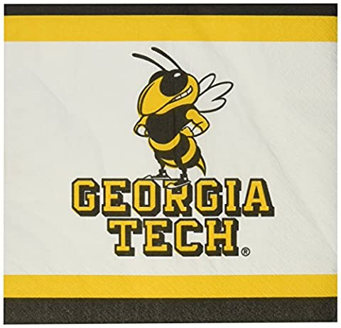 Mayflower Distributing Company 20 Count Georgia Tech Lunch Napkin, Multicolor