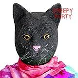 CreepyParty Máscara de la cabeza del gato de la novedad del partido del traje de lujo de Halloween Látex Animal