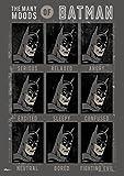 MightyPrint Batman–Nombreux Moods Art Mural–Gains Durable lumière Danser Décor