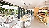 XINGPING Nordic Massivholz Esszimmerstuhl American Country Rückenlehne Stuhl Home Bürostuhl Moderne Coffee Shop Stuhl (Farbe : Weiß)