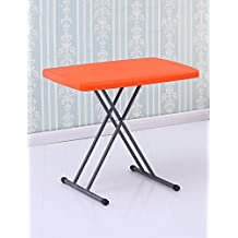 Mesa simple plegable de hogar Mesa de comedor Mesas de estudio Mesas de ordenador Mesas de picnic al aire libre con altura ajustable (5 colores opcionales) ( Color : Naranja , Tamaño : W*H:50*76cm )