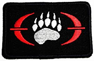 Embroidered Ecusson brode Iron on patch blackwater worldwie patches Gun logo patch embroidered iron on patch Logo2