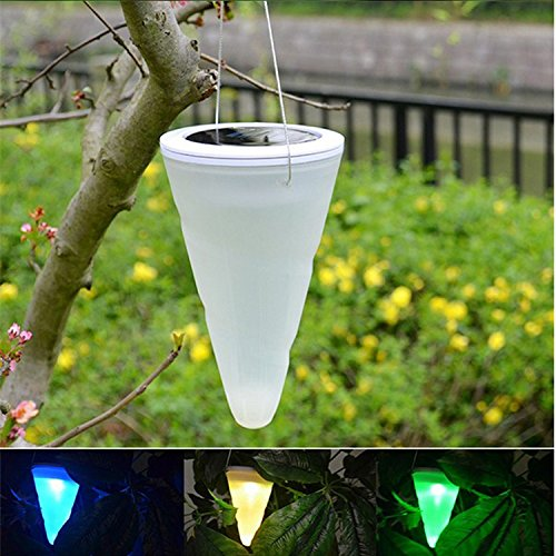 4 X Solarleuchten Hängeleuchte LED Farbwechsel Leuchten, Hängende Kegelförmige Solar Gartenleuchten Außenbeleuchtung, Baumdekoration für Party Garten Pathway von NORDSD