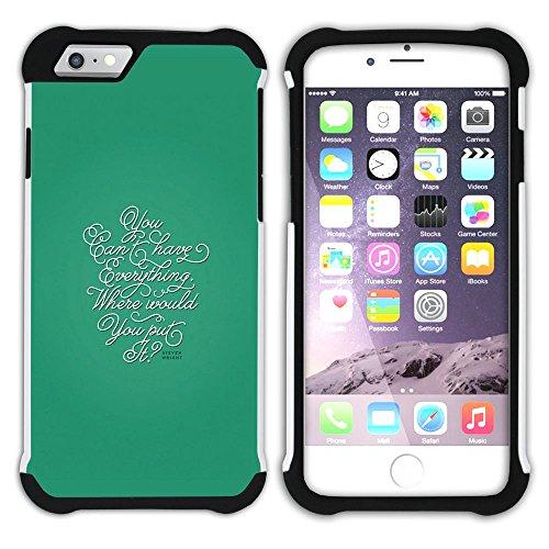 Graphic4You Favorite Things In Life Englisch Zitat Nachricht Hart + Weiche Kratzfeste Hülle Case Schale Tasche Schutzhülle für Apple iPhone 6 Plus / 6S Plus Design #8