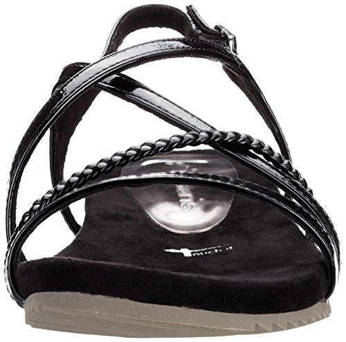 Tamaris Damen 28106 Slingback Sandalen Schwarz (Black Patent)
