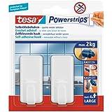 tesa Powerstrips Hooks Large CLASSIC White