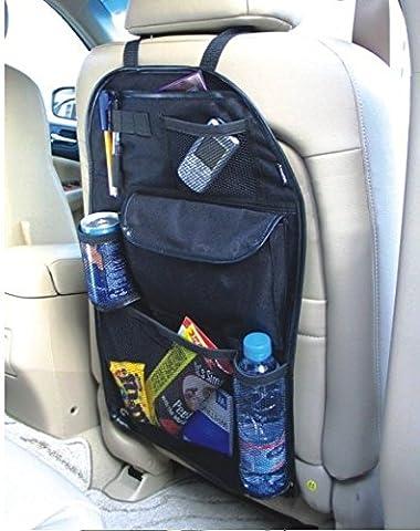 2 x Kabalo Universel Back Seat Organisateur de voiture voyage avec porte-boissons / parapluie et 7 velcro étanche compartiments de rangement distincts. 55cm x