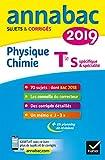 Annales Annabac 2019 Physique-chimie Tle S - Sujets et corrigés du bac Terminale S