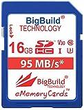 BigBuild Technology - Scheda di memoria UHS-I U3, 95 MB/s, per fotocamere Sony Cyber shot DSC H300, HX350, ILCE 7S, RX10, Sony ILCE-5100, ILCE-7KB.CE, ILCE-7M2B, ILCE-7S/BQ Alpha 7S, ILCE-5100LB.CEC